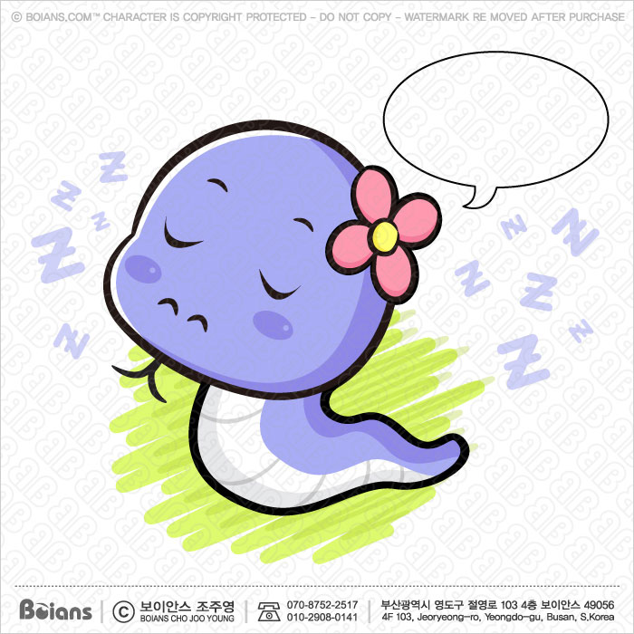 Boians Vector Snake Character is having a dream. Asian Zodiac Character.