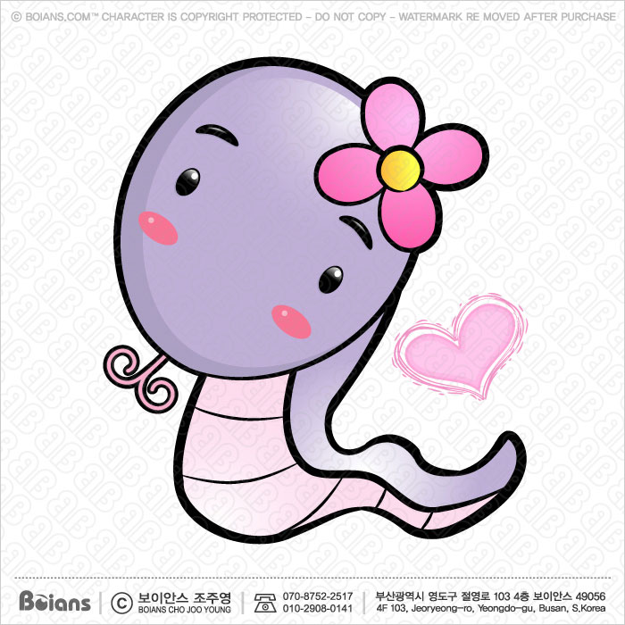 Boians Vector Snake Character. Asian Zodiac Character.