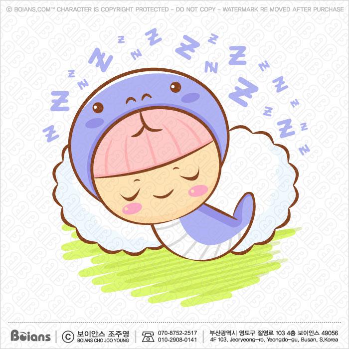 Boians Vector Snake Character is sleeping. Asian Zodiac Character.