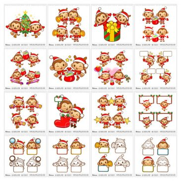 New Launched Boians Vector Monkey Character Series 78 Sets.