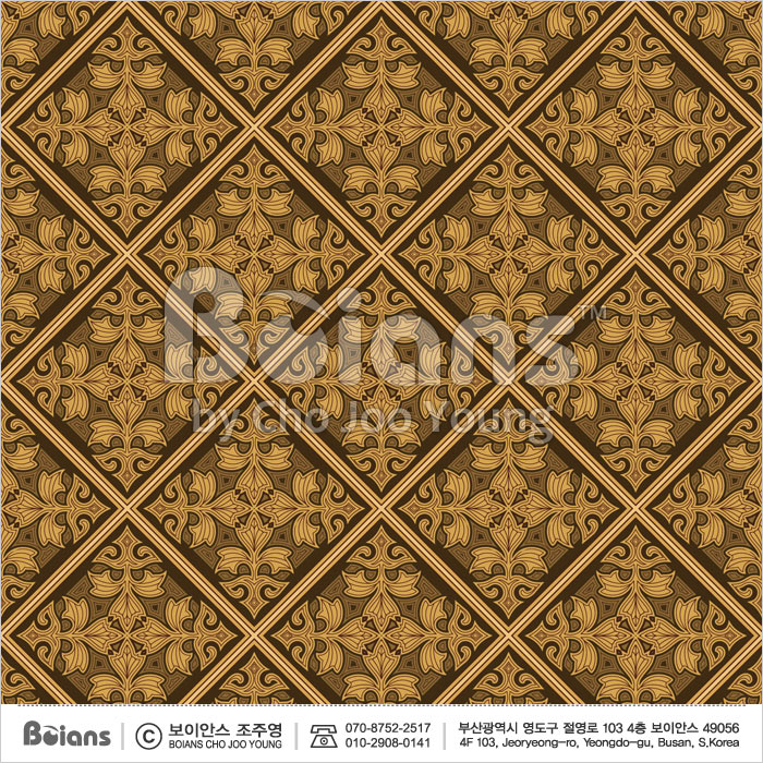 Boians Vector Original Damask Pattern Series 014.