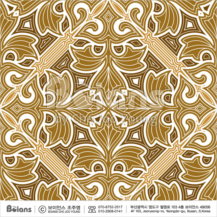 Boians Vector Original Damask Pattern Series 020.