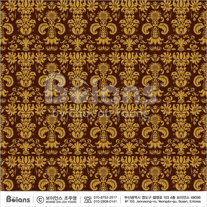 Boians Vector Original Damask Pattern Series 032.