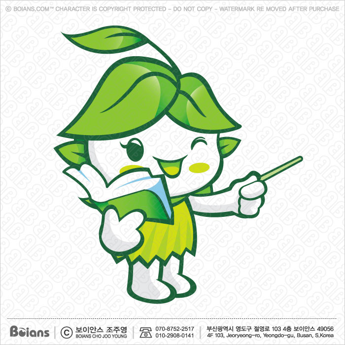 Boians Vector Forest and Silva Character is teaching. Fairy Character.