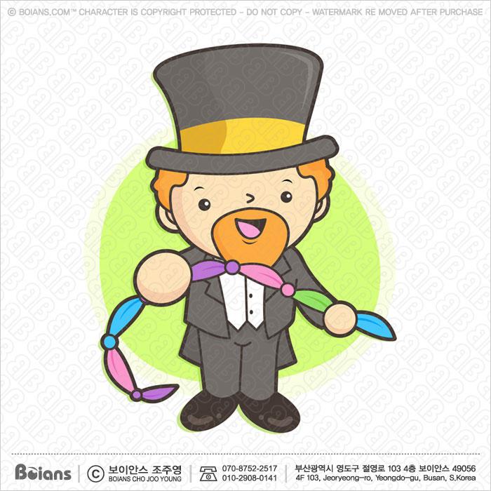 Boians Vector Magician Character in Using a cloth magic.