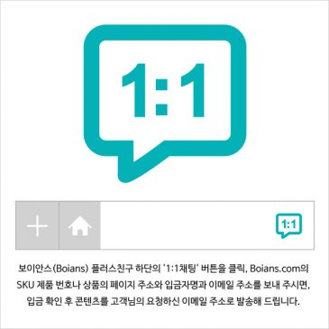 보이안스 플러스친구 이용 한국 고객 구매 방법.