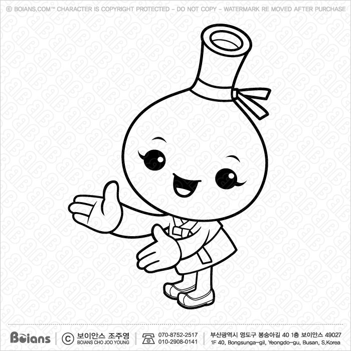 boians Korean Desserts boians vector black and white korean hard liquor character is a guide gesture korean traditional food isolated illustration series sku bvcd004139